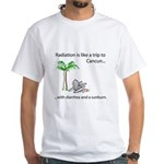 Radiation and Cancun White T-Shirt