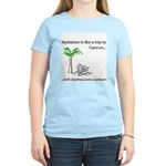 Radiation and Cancun Women's Pink T-Shirt