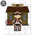 Cowboy Sheriff at Jail Jigsaw Puzzle