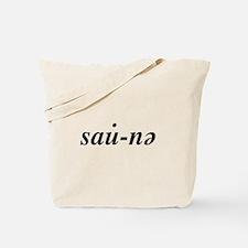 Yooper Sauna Tote Bag