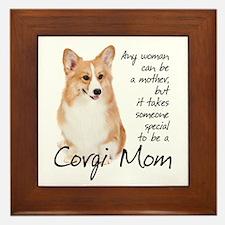 Pembroke Corgi Mom Framed Tile