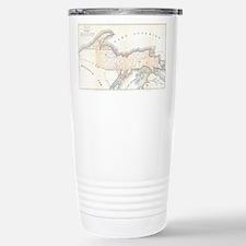 1849 Upper Peninsula Map Travel Mug