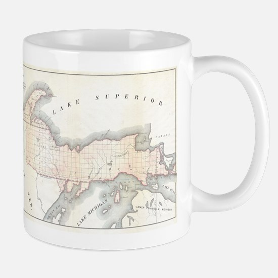 1849 Upper Peninsula Map Mug