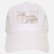 1849 Upper Peninsula Map Baseball Baseball Cap