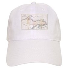 1849 Upper Peninsula Map Baseball Cap