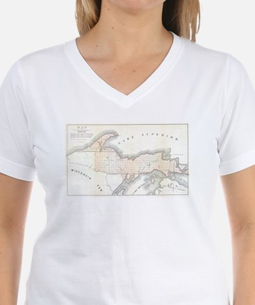 1849 Upper Peninsula Map Shirt