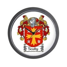 Scully Coat of Arms Wall Clock