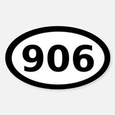 906 Oval Decal