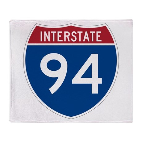 Interstate 94 Throw Blanket