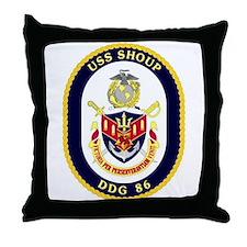USS Shoup DDG 86 Throw Pillow