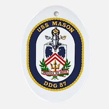 USS Mason DDG 87 Oval Ornament