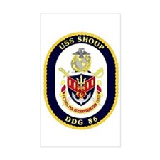 USS Shoup DDG 86 Rectangle Decal
