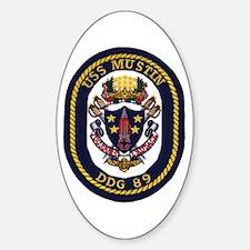 USS Mustin DDG 89 Oval Decal