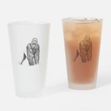 Tatu gorilla portrait Drinking Glass