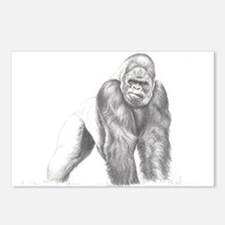 Tatu gorilla portrait Postcards (Package of 8)