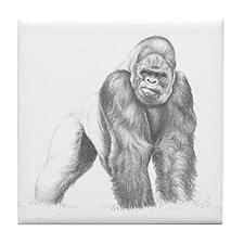 Tatu gorilla portrait Tile Coaster