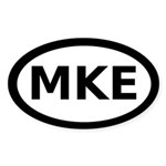 MKE Milwaukee Oval Sticker