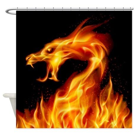 Fire Dragon Shower Curtain