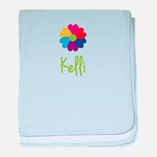 Kelli Valentine Flower baby blanket