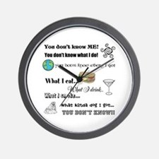 You don't know ME! Wall Clock