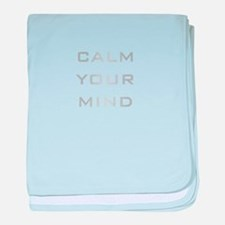Calm Your Mind baby blanket