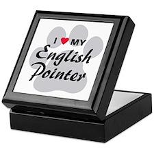 Love My English Pointer Keepsake Box