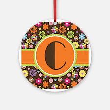Letter C Monogram Floral Gift