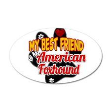 American Foxhound 38.5 x 24.5 Oval Wall Peel