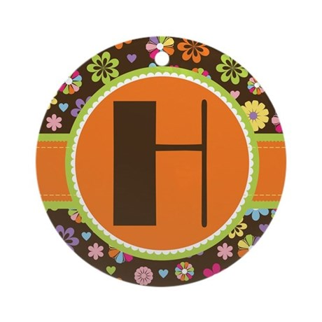 Monogram Letter H Floral Keepsake Gift