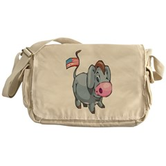 Cute Democrat Messenger Bag