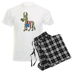 Democrat Donkey With Flag Pajamas