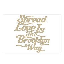 Brooklyn Love Tan Postcards (Package of 8)