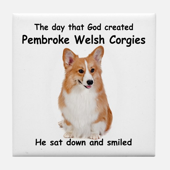 Corgi Tile Coaster