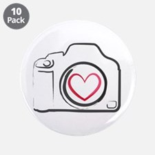 """I Heart Photography 3.5"""" Button (10 pack)"""