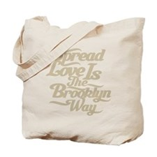 Brooklyn Love Tan Tote Bag