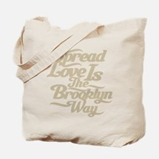 Brooklyn Love Tan Tote Bag