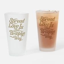 Brooklyn Love Tan Drinking Glass