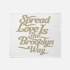 Brooklyn Love Tan Throw Blanket