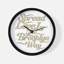 Brooklyn Love Tan Wall Clock