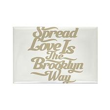 Brooklyn Love Tan Rectangle Magnet