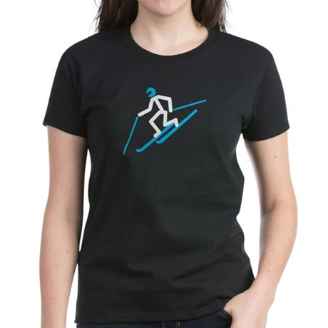 Tele Stick Man Women's Dark T-Shirt