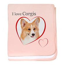 I Love Corgis #2 baby blanket