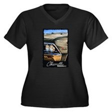 1966 Chevelle Women's Plus Size V-Neck Dark T-Shir