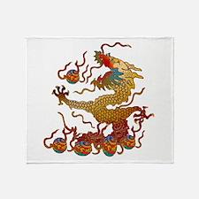 Playful Dragon Throw Blanket