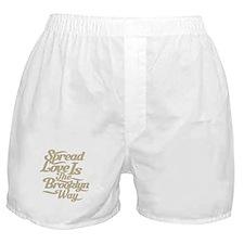 Brooklyn Love Tan Boxer Shorts