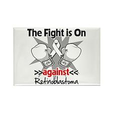 Fight is On Retinoblastoma Rectangle Magnet