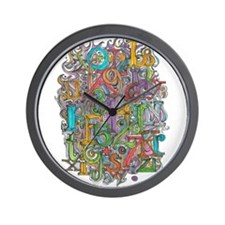 Alphabet Soup Wall Clock