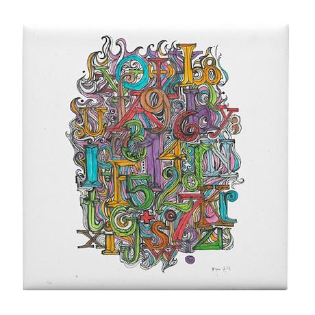 Alphabet Soup Tile Coaster