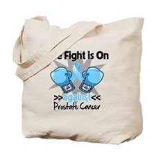 Fight is On Prostate Cancer Tote Bag
