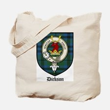 Dickson Clan Crest Tartan Tote Bag